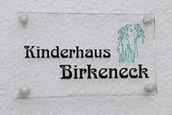 Kinderhaus Birkeneck Wandschild